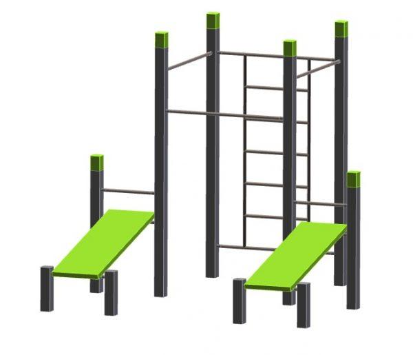Denfit outdoor fitness street workout