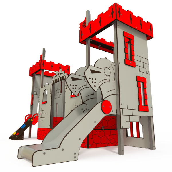 Qualicite themed playground castle tower