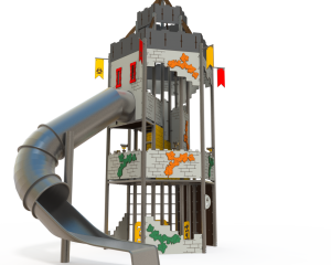 Qualicite themed playground tower