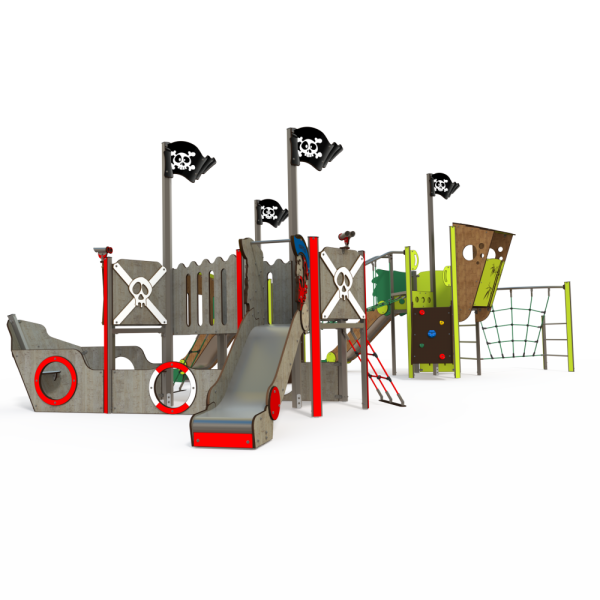 Qualicite pirate ship themed playground
