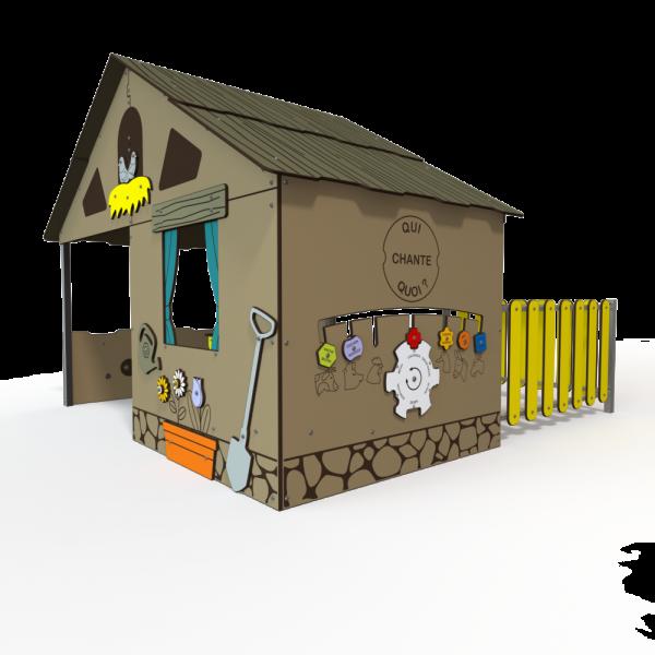 Qualicite farm chicken themed playground