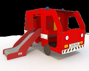 Qualicite fire engine themed playground
