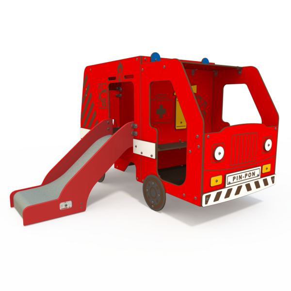 Qualicite fire engine themed playground