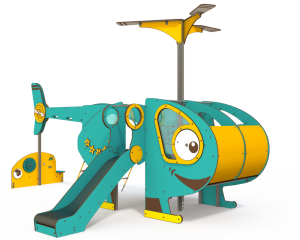 Qualicite helicopter themed playground
