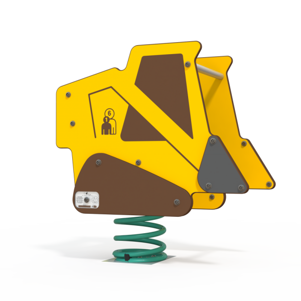 bulldozer construction spring toy
