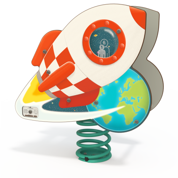 space ship spring toy