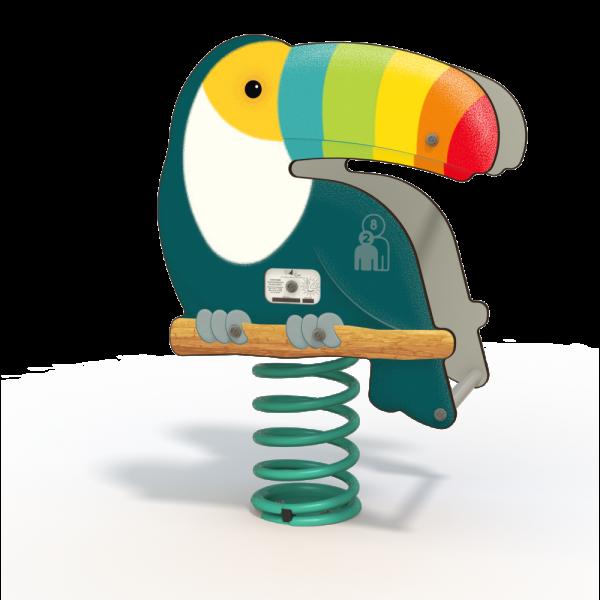 Toucan spring toy